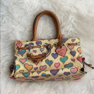 Dooney and Bourke Vintage Scribble Heart Tote 💜